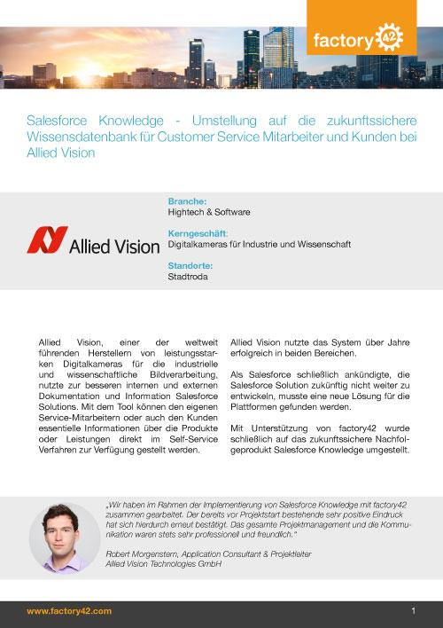 Allied Vision Referenz als PDF downloaden